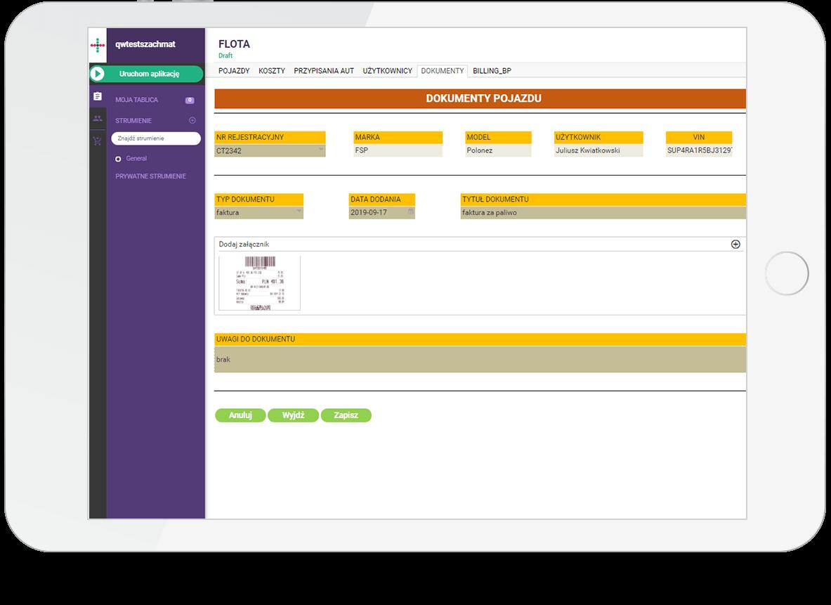 Oprogramowanie do zarządzania flotą - Qalcwise